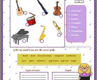Music Elementary Worksheet