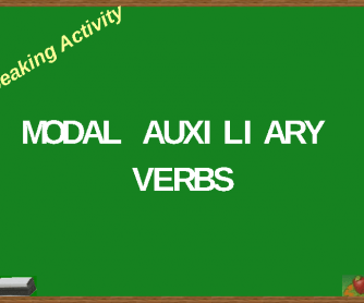 Speaking Activity: Modal/ Auxiliary Verbs