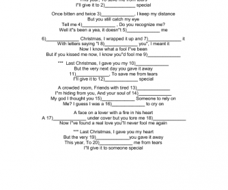 Song Worksheet: Last Christmas
