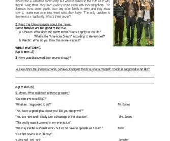 Movie Worksheet: The Joneses [Secrets]