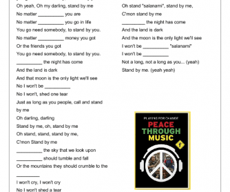 Song Worksheet: Stand By Me [Playing for Change]