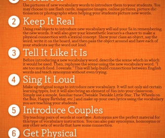 POSTER: 7 Best Ways to Introduce New Vocabulary