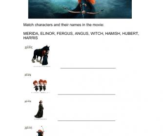 Movie Worksheet: Brave (2012)