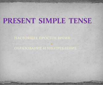 Present Simple Powerpoint [for Russian speakers]