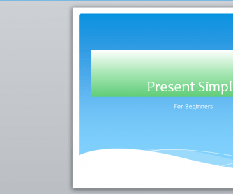 Present Simple: Powerpoint Presentation for Beginners