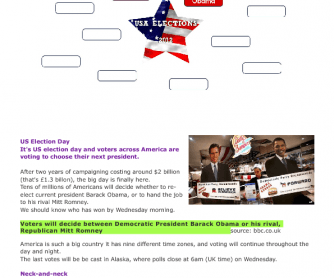 Reading Worksheet: USA Elections 2012