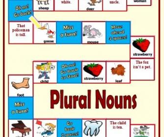 Plural Nouns Boardgame