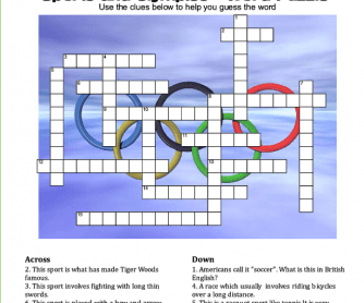 Sports and Olympics Crossword
