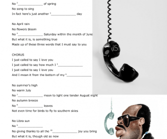 Song Worksheet: I Just Called to Say I Love You