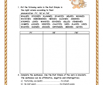 Past Simple Worksheet