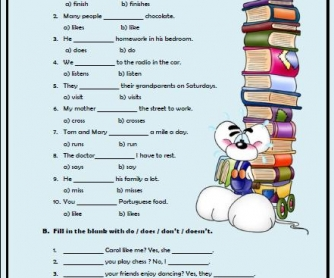 Present Simple Tense Elementary Worksheet II