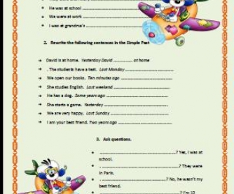 Simple Past Elementary Worksheet II