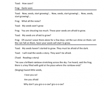 Cartoon Worksheet: Frog and Toad - The Garden