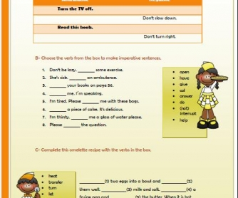 The Imperative Elementary Worksheet