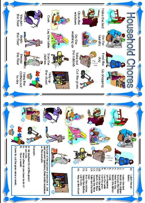 House Chores Worksheets Worksheets for all | Download and Share ...