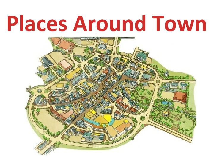 Places Around Town Powerpoint Presentation