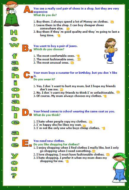 creative writing test quiz