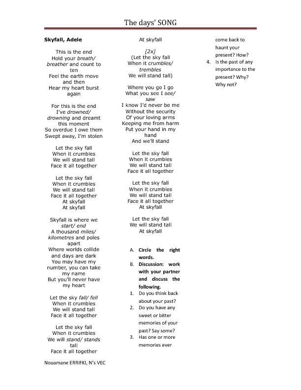 Songtext von Adele - Skyfall Lyrics