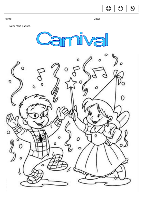 carnival coloring pages for kids - photo#41