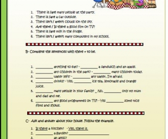 There is / There are Elementary Worksheet
