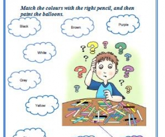 Colours Elementary Worksheet