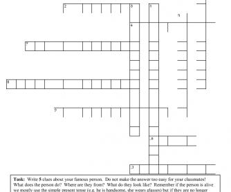 Famous People Crossword Challenge