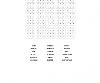 Adjectives That Describe Feelings [Word Search]