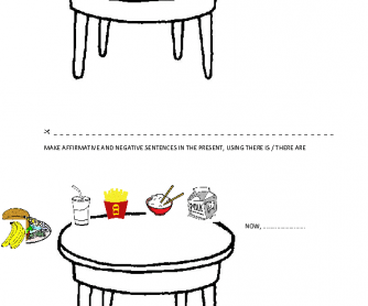 What Is There On The Table? [There Is/Are & There Was/Were]