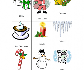 Christmas Pictionary.Christmas Pictionary 27 Christmas Winter Word Cards