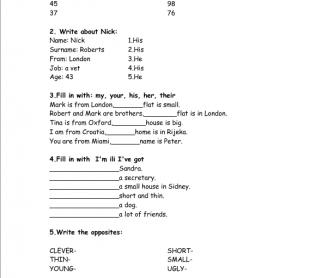 Test for Grade 4