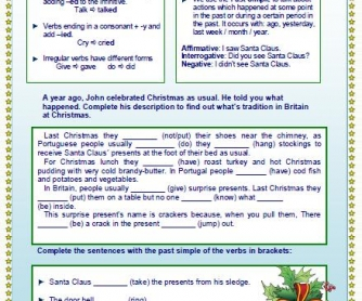 Last Christmas: Past Simple Worksheet