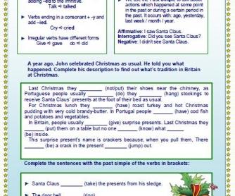 Last Christmas: Past Simple Worksheet
