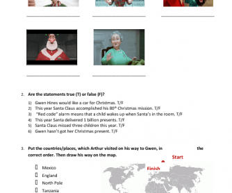Movie Worksheet: Arthur Christmas
