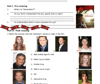 Movie Worksheet: The Descendants