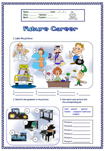 Worksheets Career Worksheet future career worksheet