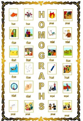 Homographs Worksheet