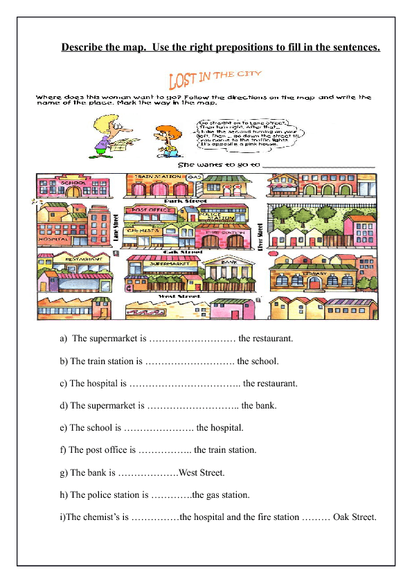 48 FREE Directions Giving and Asking Worksheets – Directions Worksheet