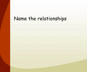 Name The Relationships