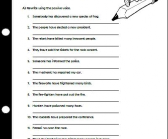 Worksheets Active And Passive Voice Worksheets With Answers Pdf the passive voice with present perfect worksheet