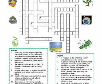 Environment Vocabulary Crossword Puzzle