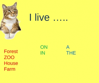 Animals Live IN or ON...