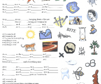 Song Worksheet: Everything At Once by Lenka [Alternative 3]