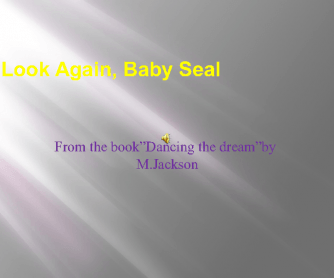 Look Again, Baby Seal by M. Jackson