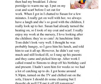 Phrasals: Lisa's Diary