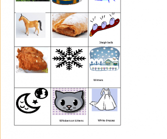 Song Worksheet: My Favourite Things