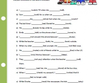 Past Continuous - BusyTeacher: Free Printable Worksheets For Busy ...