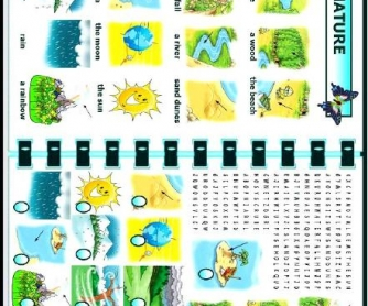 Nature Worksheet