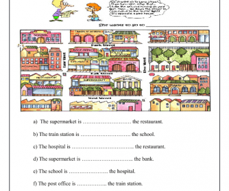 Places Around the Town: Prepositions of Place
