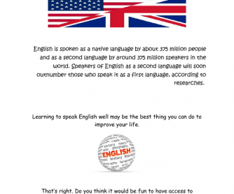 Learning English: Speaking Activity