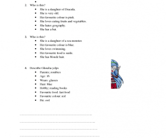 Cartoon Worksheet: Monster High [for Polish Students]